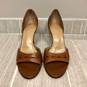 Franco Sarto Khaki Leather Heels